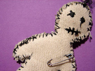 Voodoo Doll by punksafetypin by PurpleDeviants