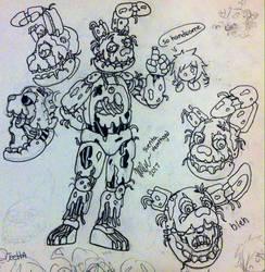 Springtrap Sketches by Suenta-DeathGod