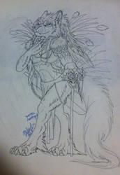 Makenna Warrior lineart by Suenta-DeathGod