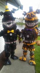 Nightmare fredbear and Nightmare cosplay by Suenta-DeathGod