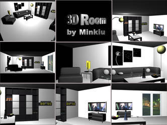 3D Minimal Room by Minkiu
