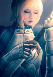 Fate/Stay Night: Saber! by raikoart