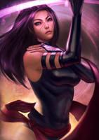 Psylocke by raikoart