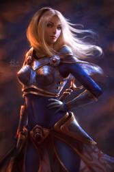League of Legends: Luxanna Crownguard by raikoart