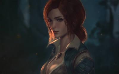Witcher: Triss Merigold by raikoart