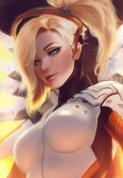 Overwatch: Mercy v2 by raikoart