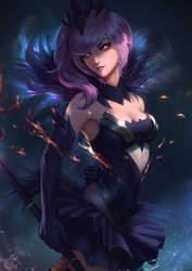Dark Elementalist Lux by raikoart