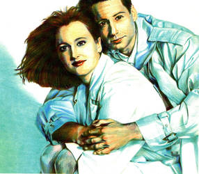 Mulder and Scully by AbecedarianJameson