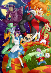 Slayers in Wonderland by piku-chan