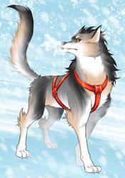 Christmas Guardian pt. 2 (The Direhund) by piku-chan