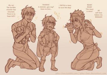 Family Story Time by piku-chan