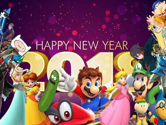 Happy New year 2018 by Angrybirdsguy2001