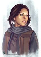 Jyn Erso - Rogue One Fan Art by AdityaPe