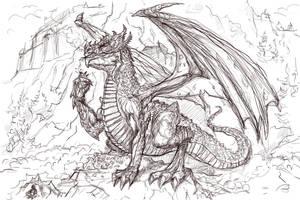 Wawel Dragon WIP by gielczynski