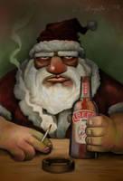 Resting Santa by gielczynski