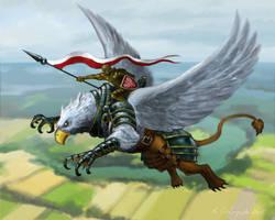 Griffin Rider by gielczynski
