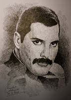 Another Freddie Mercury Drawing by gielczynski
