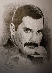 Another Freddie Mercury Drawing by gielczynski