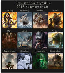 2018 Summary of Art by gielczynski
