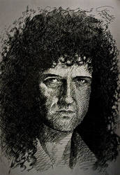 Brian May drawing by gielczynski