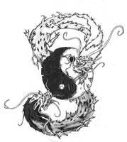 Dragons tatoo by moorkasaur