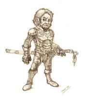 Halfling swordsman by moorkasaur