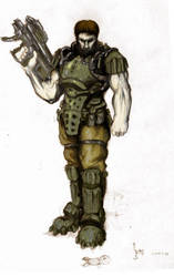Doom marine by moorkasaur
