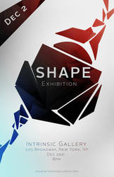 SCAD Poster Challenge Entry: Shape Exhibition by ShahAkash