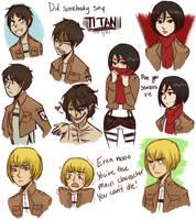 Attack on Titan by cookiekhaleesi
