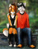 Erica and Brandon by DaytonaBlue64Impala