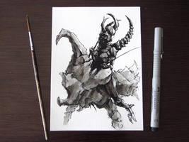Inktober 1 - Poisonous by Damjan-Gjorgievski