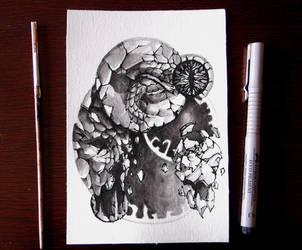 Inktober 4 - Spell by Damjan-Gjorgievski