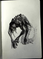 Inktober 14 - Swamp beast by Damjan-Gjorgievski