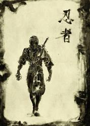 Black Shinobi by scabrouspencil