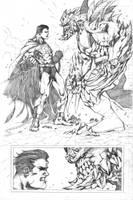 Superman vs Doomsday fan art by scabrouspencil