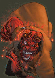 Hellboy_colors by scabrouspencil