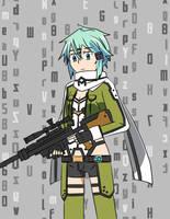 Gun Gale Online: Sinon by Darksector42