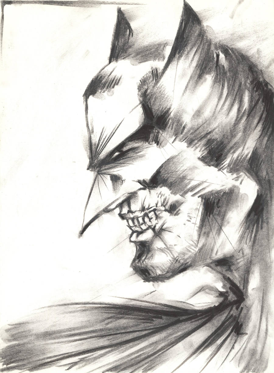 Batman Portrait by Indradas