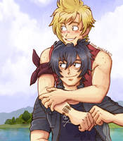 Noctis and Prompto by Yamatoking