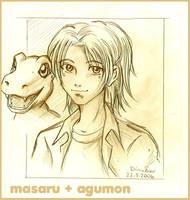Masaru and Agumon by Yamatoking