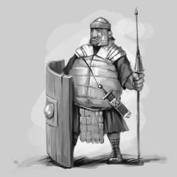 Warrior character design by Grafikwork