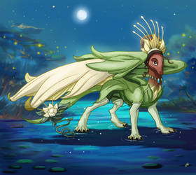 Tiana Dragon by Wonderwig
