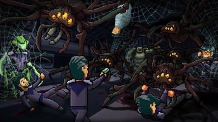 Giant Alien Spiders by Wonderwig