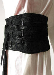 black leather belt by yinco
