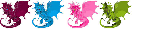 4 pt Dragons (please no free use) by sparkly-blonde
