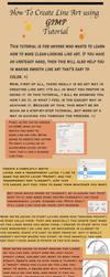 How to Create Line Art in GIMP by linkfreak131