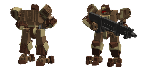Bipedal Front Mission-type mecha Version 2 by TheMugbearer