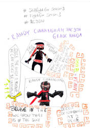 Randy and First Ninja Doodle by SallyPrime16