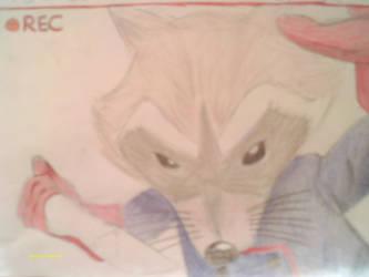 Rocket Raccoon - Random Sketch by LeeseyBoy