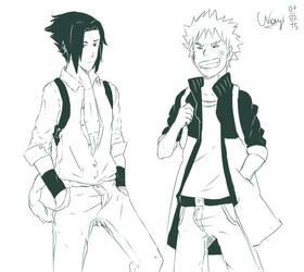 Naruto and Sasuke by NLeicam